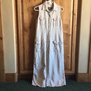 Button-down Linen Eddie Bauer Dress
